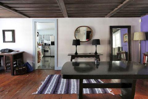 Wood, Room, Floor, Interior design, Property, Hardwood, Flooring, Ceiling, Furniture, Table,