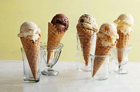 gelato in cones