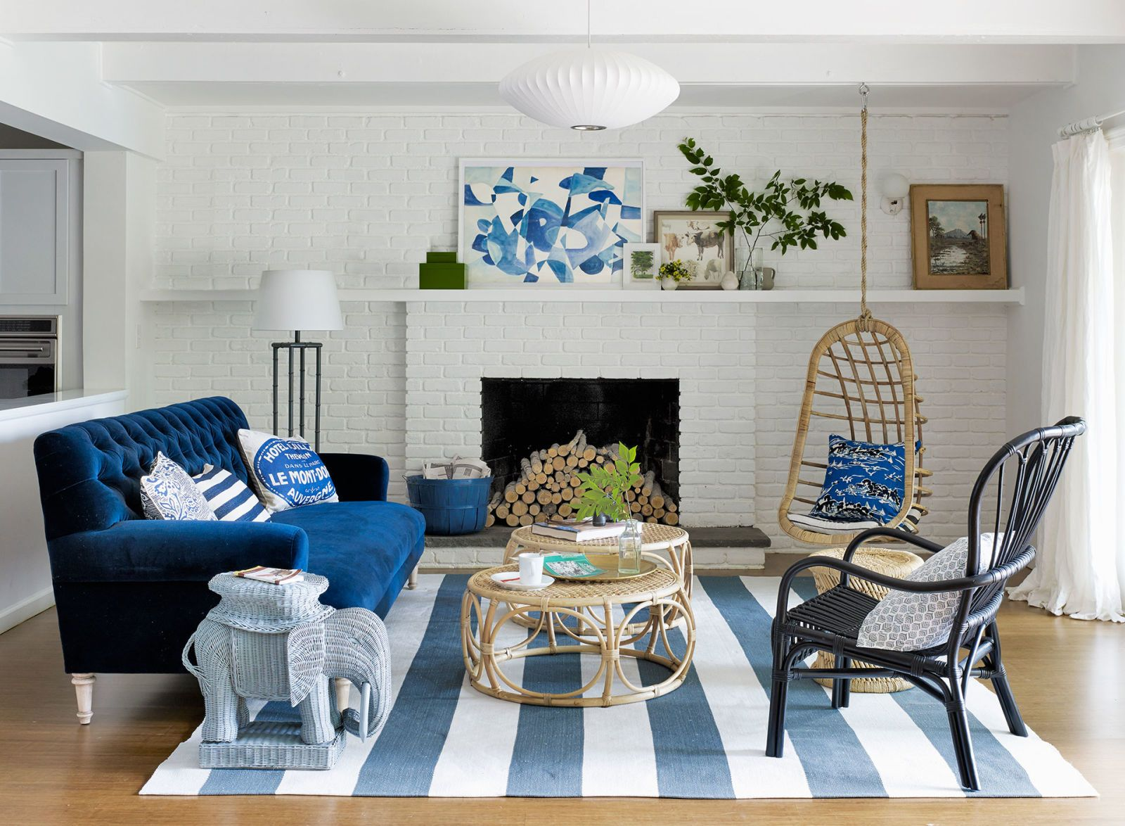 Pictures Living Room.  Emily Henderson New York Decorating Colorful Ideas