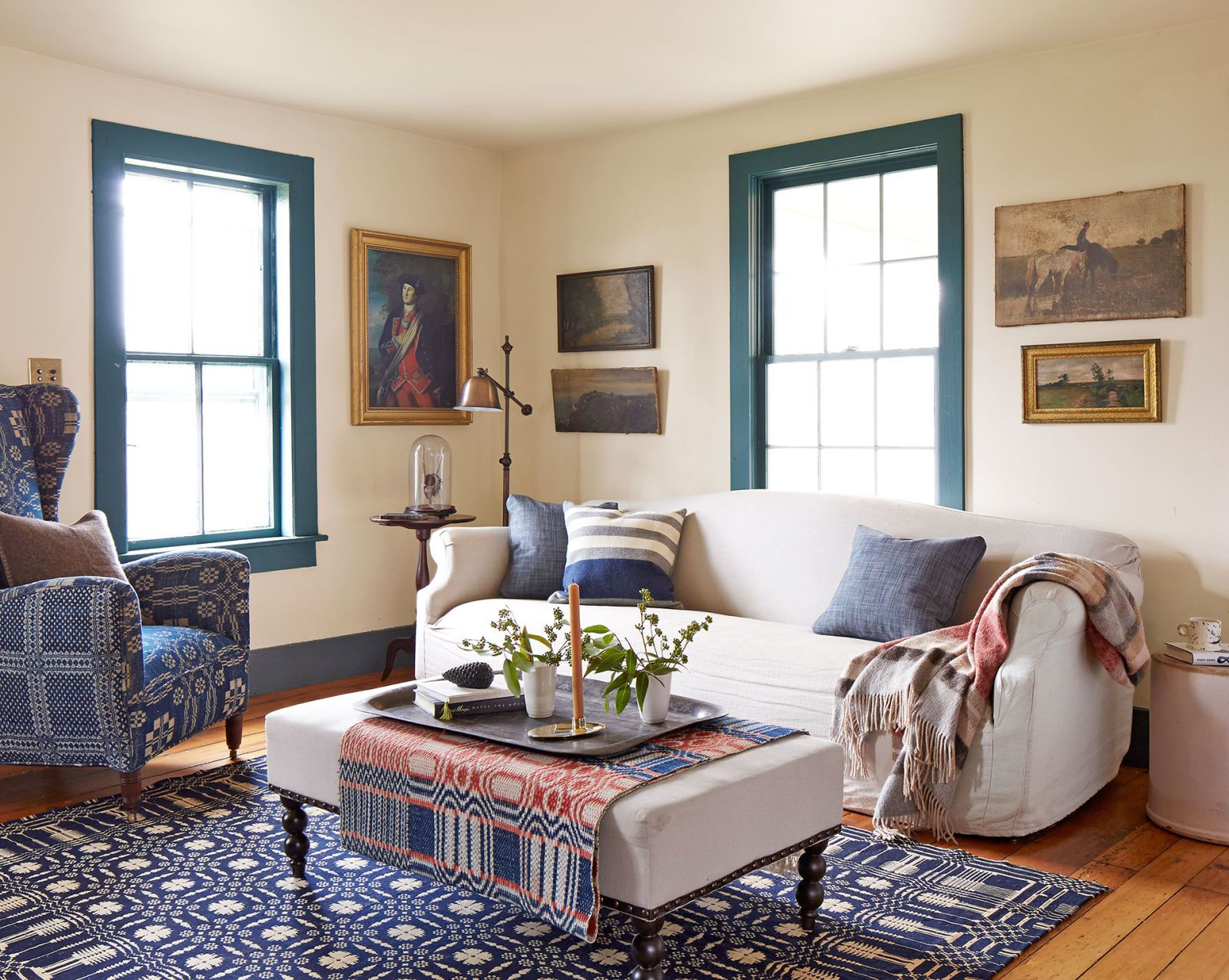living room & Patriotic Decor - 4th of July Red White and Blue Decorating Ideas