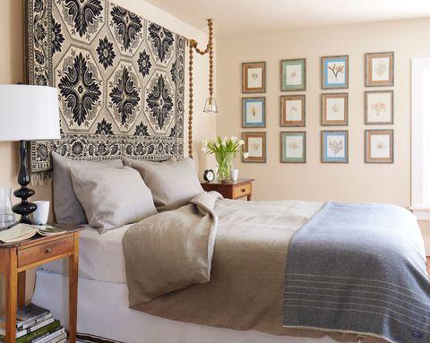 Wood Tapestry Headboard