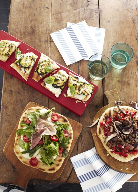 artisian pizzas with toppings