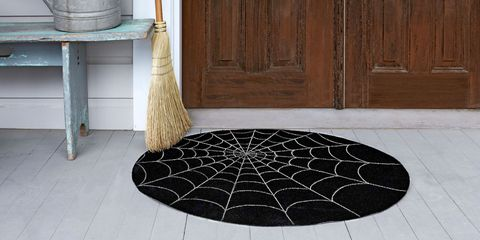 outdoor halloween decorations spiderweb doormat