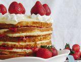 Strawberries and custard icebox cake