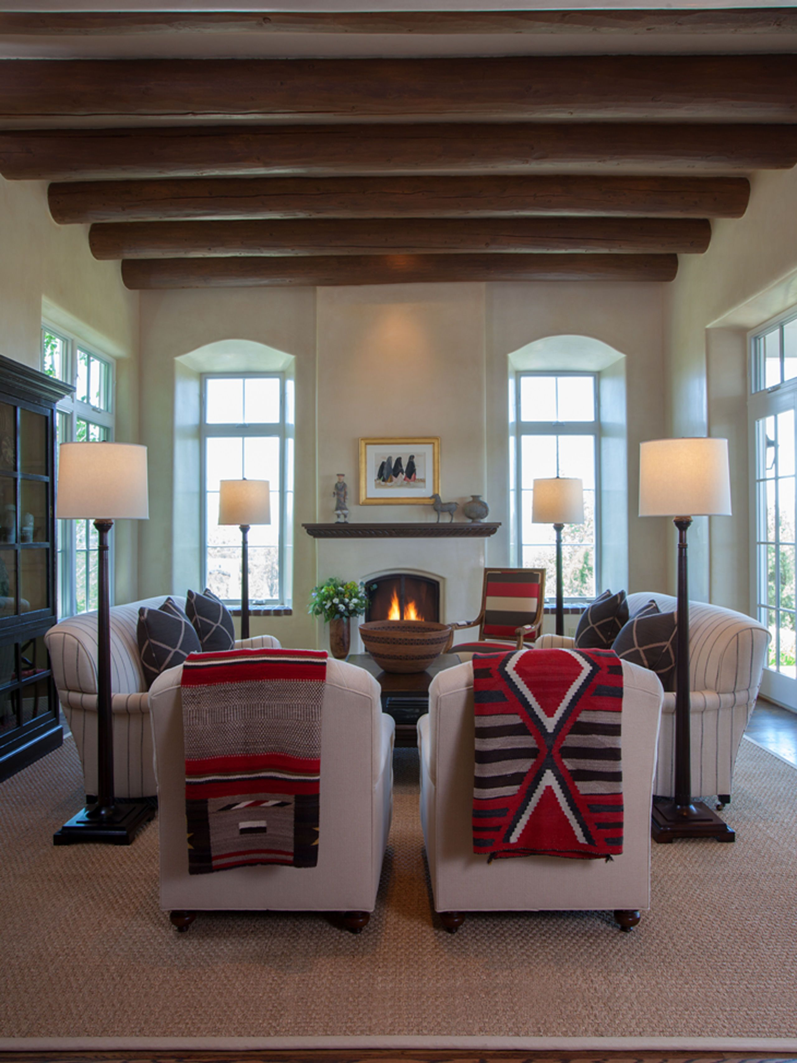 Santa Fe New Mexico Adobe Home - Southwestern Decorating Ideas