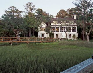 exterior of low country style house