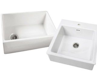 two white sinks