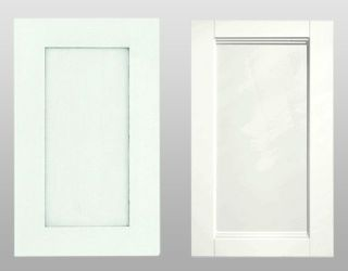 two white cabinet doors
