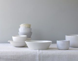 varied shades of white bowls