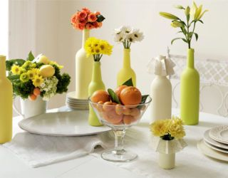 orange and green centerpiece