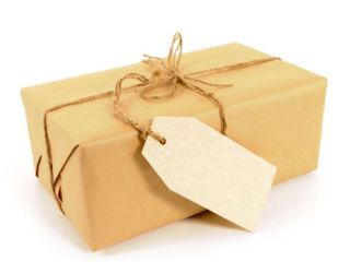 brown paper package wrapped with twine
