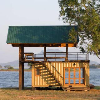 Wood, Stairs, Loch, Reservoir, Shore, Lumber, Lake district, Log cabin, Plank, Outdoor structure,