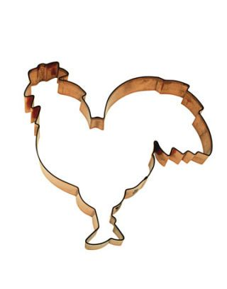 rooster shape cookie cutter