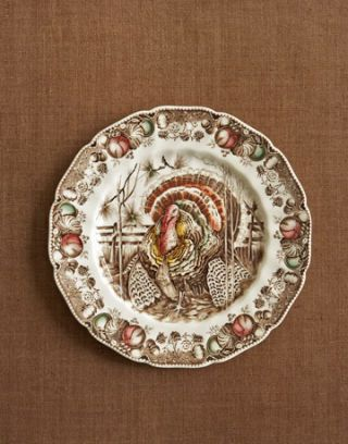 turkey china dinner plate