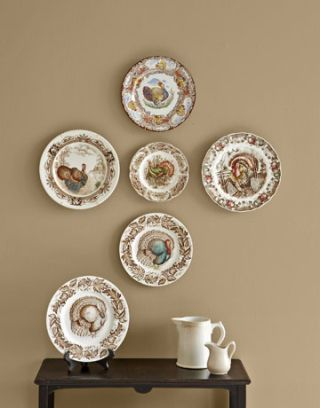 turkey plates on wall