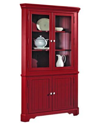 red china hutch