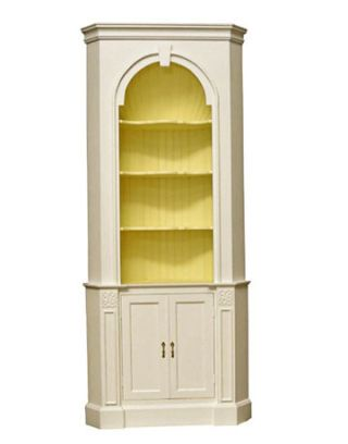 white cabinet with yellow interior