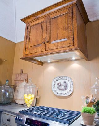 cabinet above a stove