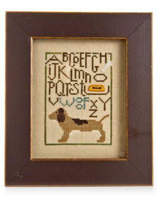 dog cross-stitch sampler
