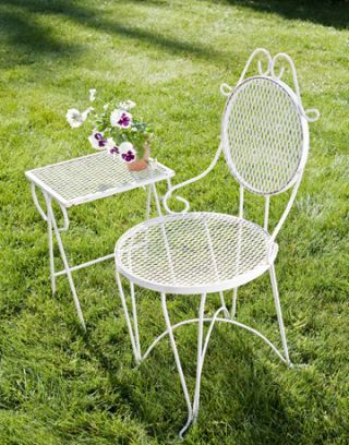 white iron patio furniture. Simple Patio White Iron Chair And Table Intended White Iron Patio Furniture H