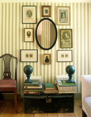 striped sitting room