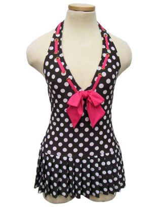 polka dot swimsuit