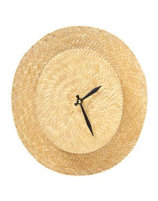 straw hat clock