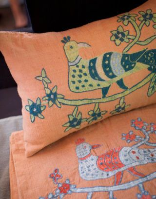 embroidered pillows from afghanistan
