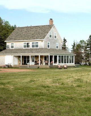 gray beach house