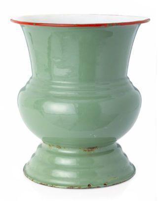 green vintage cachepot