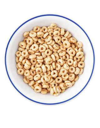 bowl of honey nut cheerio cereal