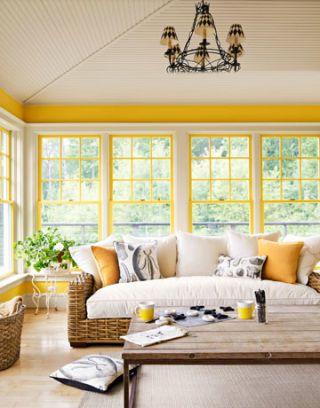 yellow porch