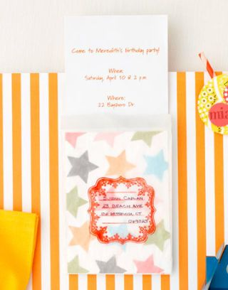 birthday party invitation stars