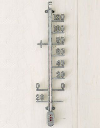 zinc outdoor thermometer - Best Decorative Outdoor Thermometers - Decorative Thermometers For