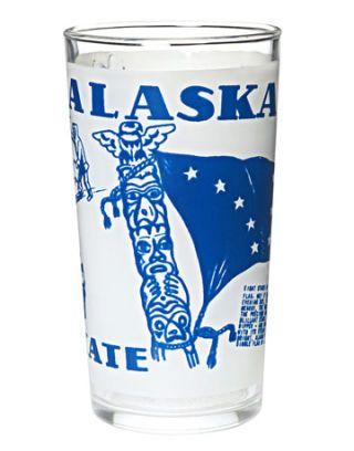 souvenir drinking glass from Alaska