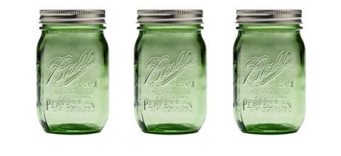 ball jars heritage collection green blue canning kitchen