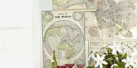 Map Home Decor - Ideas for Decorating with Maps