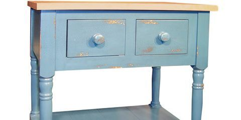 blue kitchen island