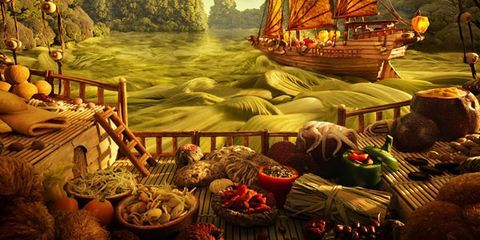 carl warner chinese junk foodscape