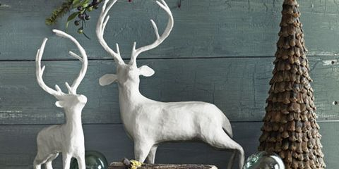 holiday stag statues
