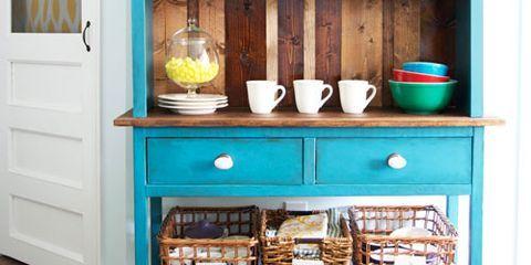 Blue, Shelving, Shelf, Door, Cupboard, Dishware, Teal, Porcelain, Turquoise, Serveware,