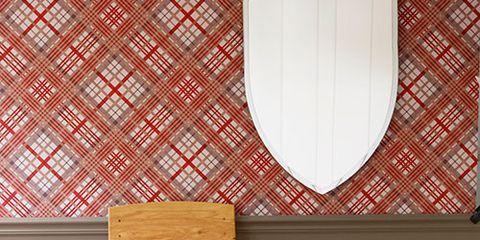 wallpaper mirror chair