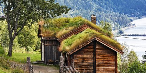 Mountainous landforms, Highland, Landscape, Mountain range, Rural area, House, Mountain, Land lot, Farm, Hut,
