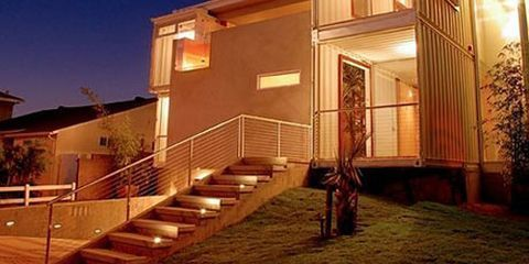 Stairs, Property, Home, Facade, Residential area, House, Real estate, Building, Door, Handrail,
