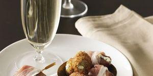 italian fried olives and cheese stuffed dates