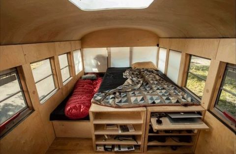 Cabin School Bus Tiny Homes