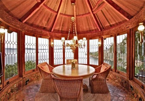 Room, Table, Interior design, Furniture, Real estate, Floor, Hardwood, Wood stain, Tints and shades, Symmetry,