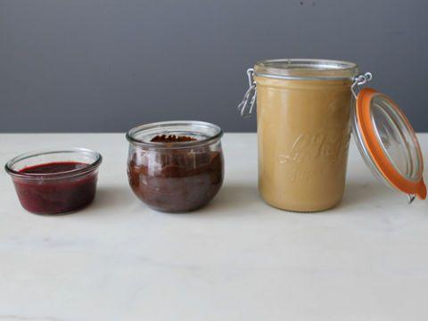 Ingredient, Serveware, Food, Tableware, Mason jar, Fruit preserve, Drinkware, Drink, Condiment, Fruit butter,