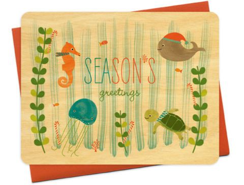 night owl paper goods holiday card