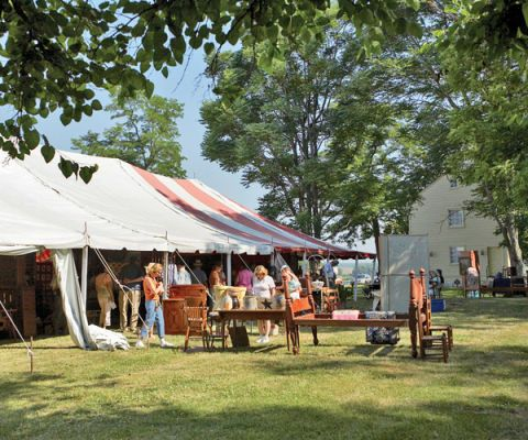 tents and stands at pleasant hill antiques show and sale in kentucky